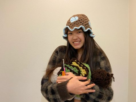 "Freshman Belan Ngo's crochet designs are heavily inspired by fashion trends she sees on social media platforms, whether it be TikTok, Pinterest or Instagram. ""I saw videos on TikTok, actually. There was this one girl who was making a heart crochet hat, and I couldn't find a tutorial on YouTube, so she helped me with it and sent me different videos to learn off of,"" Ngo said. ""I also check people's Instagrams and see what's most popular at the moment and see if I can turn it into a crochet item."""