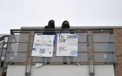 Juniors Sriya Boppana and Jessica Kim participated in Club-a-Palooza by viewing the posters around the school from the 600 building. Pictured below them are club posters for the Make a Wish and PHS Surfrider Clubs, which included QR codes for prospective members to find more information online about how to join.