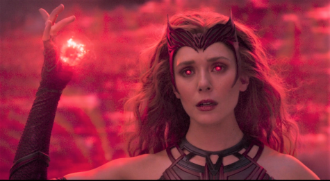 In the climax of the fight scene in the final episode, fans watched as Wanda Maximoff sheds her sweatpants and track jacket for her Scarlet Witch costume, complete with a headdress that pays homage to the original character design from the comics.