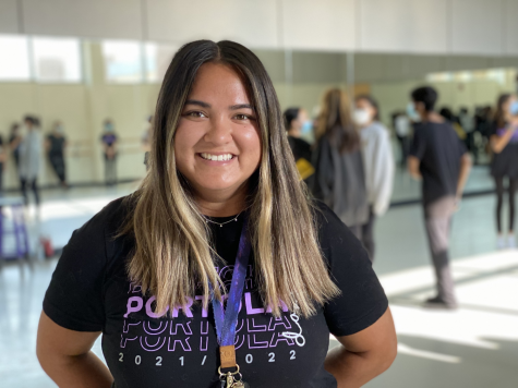 """Though she's coached Pep Squad since the 2018-19 school year, this year is Mackey's first as a certified teacher at Portola. """"Really, it was my first year being here that actually shifted my life plan. I started coaching here, and it made me want to become a teacher,"""" Mackey said."""