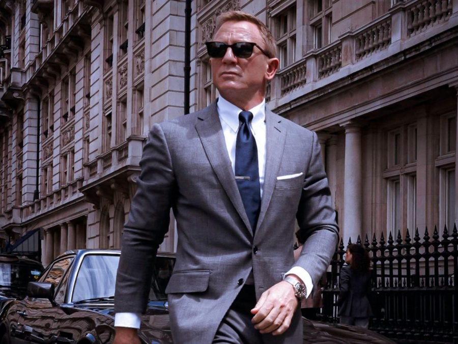 """Daniel Craig appears as James Bond in a London scene from the film """"No Time to Die."""" Craig has been critically acclaimed for his acting while playing the character over a span of 15 years."""